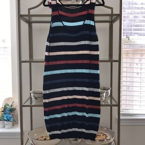 American Rag Stripped Scoop Neck Sweater Dress